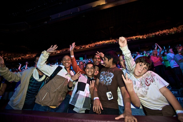Just a few of the 15,000 kids at GM Place for We Day 2009