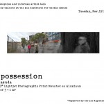 Poster for the Liu Gallery opening Tues Nov 15 4-6pm